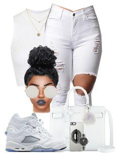 """Flex"" by chiamaka-ikaraoha ❤ liked on Polyvore featuring Topshop, Lipsy, Yves Saint Laurent, TAG Heuer, Adrienne Landau, Lime Crime and Jordan Brand"
