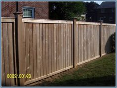 Unusually Board On Board Privacy Fence Wooden Fence, Fence Design, Fencing, Outdoor Furniture, Outdoor Decor, Creative, Board, House, Home Decor