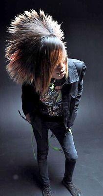 scene boy - punk boy - long hair man