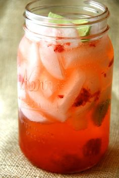Strawberry Key Limeade---Cheaper than Sonic? I might have to do some experiments