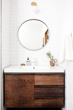 Looking for small bathroom ideas? Take a look at our best small bathroom design ideas to inspire you before you start redecorating your small Laundry In Bathroom, Bathroom Renos, Bathroom Interior, Bathroom Ideas, Washroom, Remodel Bathroom, Bathroom Designs, Bathroom Storage, Bathroom Renovations