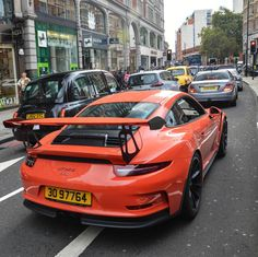 Porsche 991 GT3 RS painted in Lava Orange  Photo taken by: @tfjj on Instagram (@porsche_collector on Instagram is the owner of the car)
