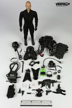 VERYHOT 1041F Navy Seal Halo UDT Jumper Wet Suit - Jason - p17