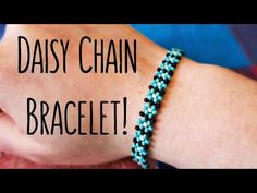 DIY Easy Daisy Chain Seed Bead Bracelet // Bead Weaving // ¦ The Corner of Craft - YouTube