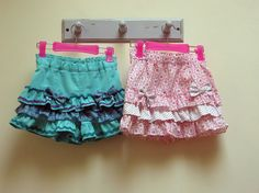 Sewing pattern for girls shorts Silly Frilly by FelicityPatterns