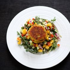 Food Fashion: Vegetable Quinoa Spicy Patties with Mango Salsa - Light dinner and lunch box for the next day