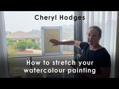 If your watercolour paper has buckled, you can stretch it after painting!