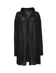 Tiger Of Sweden: Just cardigan - Women's hooded cardigan in linen-blend. Features open front with dropped shoulders and draped effect. Self-start edge around draping at front and bottom hem. Tiger Of Sweden, Hooded Cardigan, Draping, Cardigans For Women, Knitwear, Hoods, Fur Coat, Fit, Jackets