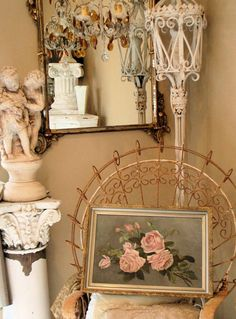Date of Creation: Listed By: Dealer or Reseller Color: Pink Features: Framed Victorian Rooms, Victorian Decor, Victorian Era, Vintage Room, Bedroom Vintage, Antique Bedroom Decor, Vintage Decor, Vintage Antiques, Vintage Chairs