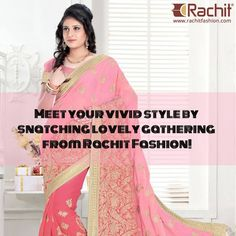 Meet your vivid style by snatching lovely gathering from Rachit Fashion!  Buy your style here - http://www.rachitfashion.com/  ‪#‎urbanethnic‬ ‪#‎indiansarees‬ ‪#‎outfits‬ ‪#‎suratsarees‬