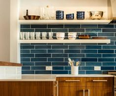 Installation Inspiration - Heath Ceramics—not my style kitchen, but still love the tile!