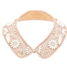 Embellished collar...