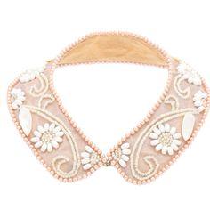 Embellished collar...