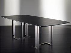 Esszimmer- rechteckiger Tisch CHAPLIN by Meridiani (Glasplatte?)