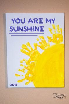 you are my sunshine handprint keepsake