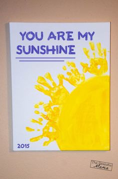 you are my sunshine handprint keepsake