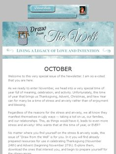 October 2016 Newsletter - filled with Thanksgiving and Advent resources. www.deborahhaddix.com