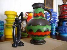 Retro fat lava 1960's vase, vintage U-Keramik West German MCM Eames Monaro era