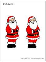 Medium-sized colored Santa Claus
