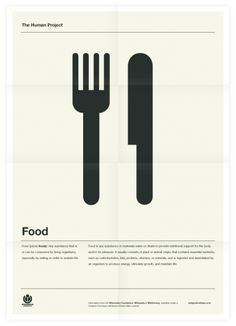 The Human Project (Food) Poster.