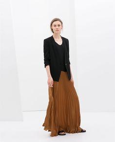 LONG FINE PLEAT SKIRT from Zara