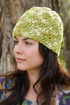 Free Crochet Pattern: Organic Green Hat  Lion Brand® Nature's Choice Organic® Cotton  Pattern #: L0245AD
