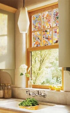 Brighten up your kitchen with First Stained Glass Window