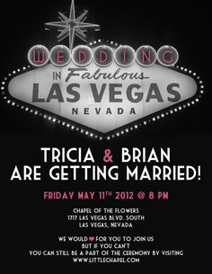 vegas wedding invite -