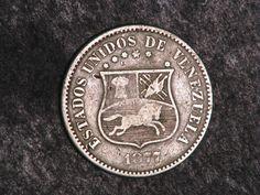 Una #Moneda del año de 1877 de Bs 0,12 céntimos y medio que circulo en #Venezuela desde 1873 hasta 1967 conocida popularmente cómo La #Locha