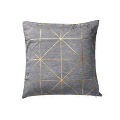 Breathe new life into existing interiors with this Diagonal Print cushion from Bloomingville. Featuring contrasting elements of solid gold against a simple grey background, it boasts stylish metall...