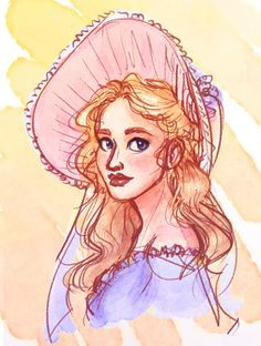 Another late night doodle, a loosely Amanda-based pastel Cosette.