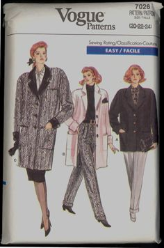 Uncut 80s Size 20 22 24 Bust 42 44 26 Easy by VintagePatternsCo1