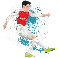 Freelance Graphic Designer and illustrator Football Art, Football Players, Football Stuff, Pictures Of People, Cool Pictures, Freelance Graphic Design, Arsenal Fc, Neymar, Soccer