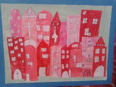 kinderkunstweek 2014 groep 3/4 rode huizen