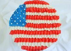 Happy 4th of July!  Ruffled Flag Cake- A Blog Tutorial