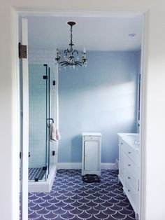 Amazing bathroom with gorgeous tile by Emily Henderson. Tile from Imperial Tile in the valley.