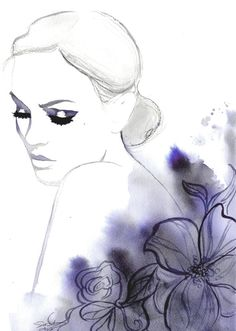 Original watercolor fashion illustration by by JessicaIllustration, $350.00