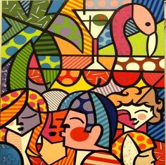 PAINEL NEWS CAFE - ROMERO BRITTO