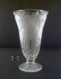 Depression Glass Iris and Herringbone Pattern  ~~ Wish I had glasses to go with my pitcher ~~ rh