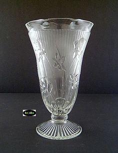 Depression Glass Iris and Herringbone Pattern  ~~ Wish I had glasses to go with my pitcher ~~ rh
