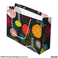 FRUITY Glossy Gift Bag Large Gift Bag