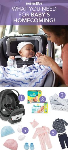 Shop now for these gotta-haves for welcoming baby home from the hospital: 1) car seat; the hospital won't let you leave without one. 2) diapers & wipes; lots of changes coming! 3) blanket; the perfect chill chaser 4) accessories; a hat & booties (babies can't regulate their body temps just yet) and mittens to prevent scratches from tiny, sharp nails 5) an adorable, picture-posting perfect outfit for baby's homecoming. Baby Shower Favors, Baby Shower Games, Baby Gadgets, Baby Checklist, Baby Coming, Welcome Baby, Baby Milestones, Baby Needs, Baby Fever