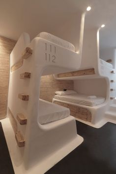 "The Athens based architectural studio Omniview has designed ""My Cocoon"" Greece's first boutique hostel that located at Mykonos island in Design Jobs, Design Blog, Amazing Architecture, Architecture Design, Contemporary Architecture, Architecture Portfolio, Architecture Definition, Sleep Box, Capsule Hotel"