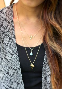 Layered necklaces - soooo pretty, haven't found the right ones yet.. I'm very picky with jewelry.