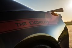 The new Hennessey Exorcist is a Dodge Demon Killer Camaro Zl1, Chevrolet Camaro, The Exorcist, Muscle Cars, Ford, American, Vehicles, Mustang Cars, Garage