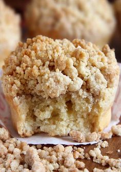Cinnamon Crumb Coffe Cake Muffins - Gather your ingredients. It's a very humble #coffeecake. #Crumb topping is the star! It doesn't take much to highlight it. #muffins