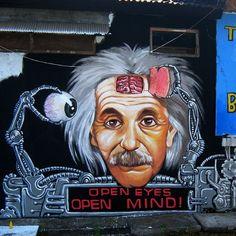 #graffiti#bali#streetart#character#wd#wilddrawing #wd_wilddrawing #wdstreetart #urbanart #mural #einstein