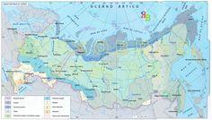 mapa - zonas naturais da Federação da Rússia