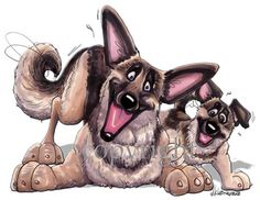 German Shepherd Puppy Pose 2013 Calendar Out Takes German Shepherd Temperament, Black German Shepherd Puppies, German Shepherds, Cartoon Dog, Cartoon Drawings, Gsd Dog, Gsd Puppies, Schaefer, Dog Art