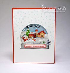 the Lawn Fawn blog: Ready Set Snow snow globe christmas card